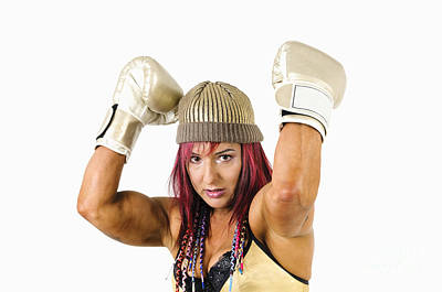 Female Kick Boxer 1 Poster by Ilan Rosen