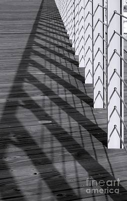 Fence And Shadows Poster