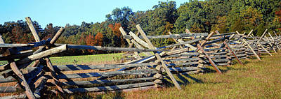 Fence At Gettysburg National Military Poster by Panoramic Images