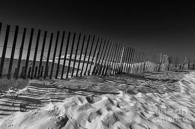 Fence On Beach Poster