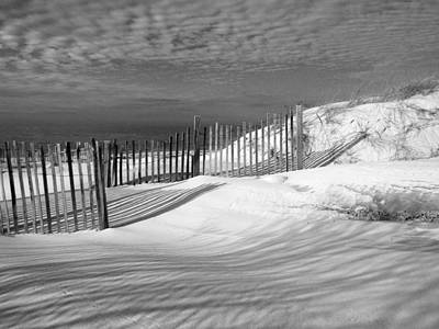 Fence Shadows Poster by Dianne Cowen