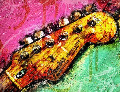 Fender Headstock 1 Poster by Gary Bodnar