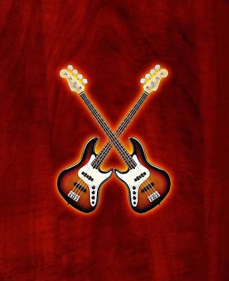 Fender Jazz Bass Lefty Poster by Doron Mafdoos