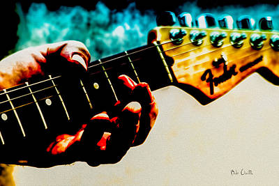 Fender Strat Poster by Bob Orsillo