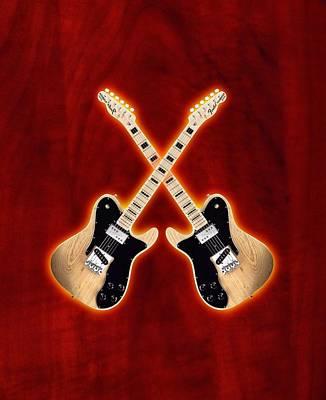 Fender Telecaster Custom Poster by Doron Mafdoos