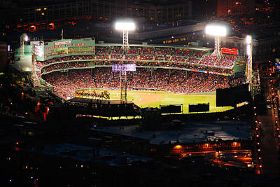 Fenway At Night Poster