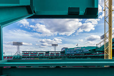 Fenway Park From The Green Monster Poster by Tom Gort