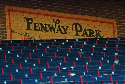 Fenway Park Sign And Seats Poster by Toby McGuire