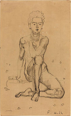 Ferdinand Hodler, Hector Posing Nude, Swiss Poster by Quint Lox