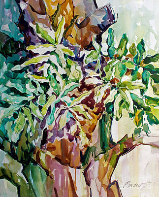 Poster featuring the painting Ferns And Bismark Rhythms  by Roger Parent