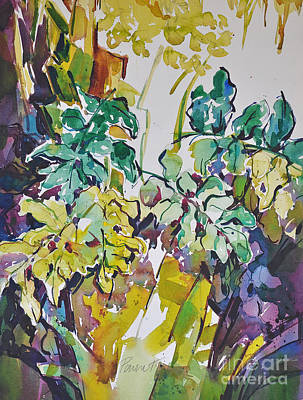 Poster featuring the painting Ferns On Hot Day by Roger Parent