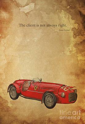 Ferrari 166s Poster by Pablo Franchi
