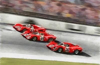 Ferrari 1967 Daytona Poster by Tano V-Dodici ArtAutomobile