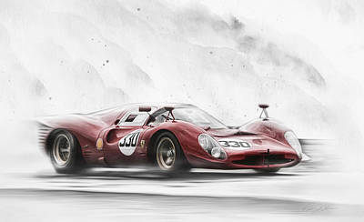Ferrari 330 P Series Poster by Peter Chilelli