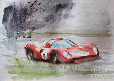 Ferrari 330p4 Spyder  Poster by Roger Lighterness