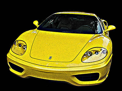 Ferrari 360 Modena In Yellow Poster