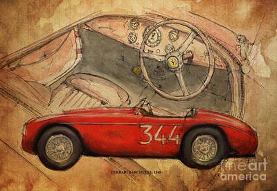 Ferrari Barchetta Poster