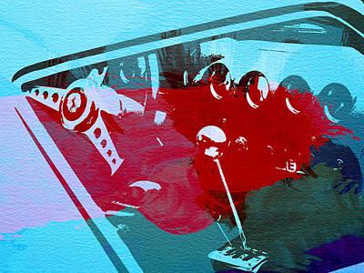 Ferrari Cockpit Poster by Naxart Studio