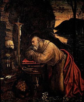 Ferrari Defendente, St Jerome, 1511 - Poster by Everett