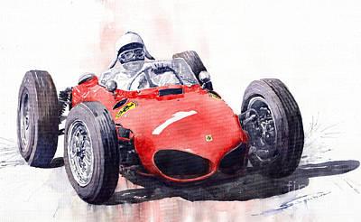 Ferrari Dino 156 F1 1961  Poster by Yuriy  Shevchuk
