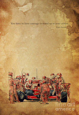 Ferrari F1 Pits Poster by Pablo Franchi