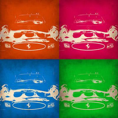 Ferrari Front Pop Art 4 Poster by Naxart Studio