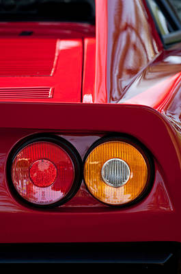 Ferrari Gto 288 Taillight -0635c Poster by Jill Reger