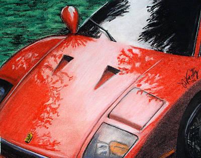 Ferrari In Red Poster