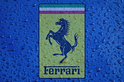 Ferrari Rainy Window Visual Art Poster by Movie Poster Prints