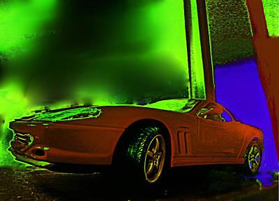Ferrari Sees The Light Poster by Mervyn Cornelius