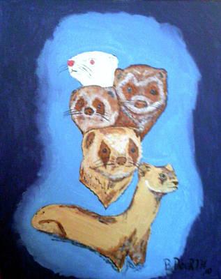 Ferrets Galore Poster by Brian Dearth