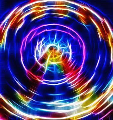 Ferris Fractal Wheel Poster by Steve Ohlsen