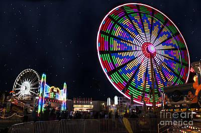 Ferris Wheel Basket Weave Poster
