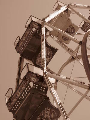 Ferris Wheel Poster by Beth Vincent