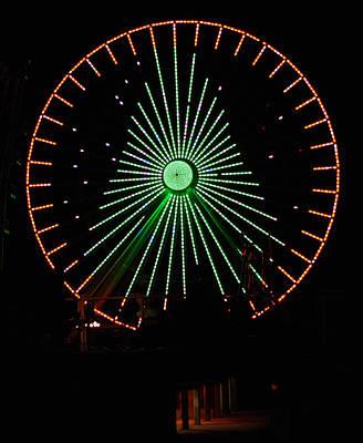 Ferris Wheel Christmas Tree Poster by Greg Graham