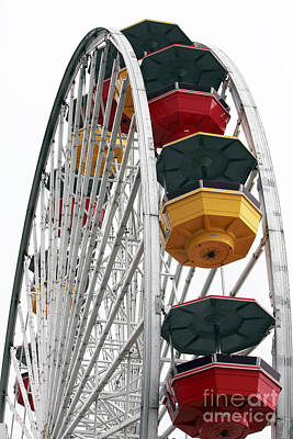 Ferris Wheel Colors Poster by John Rizzuto
