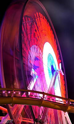 Poster featuring the digital art Ferris Wheel by Gandz Photography