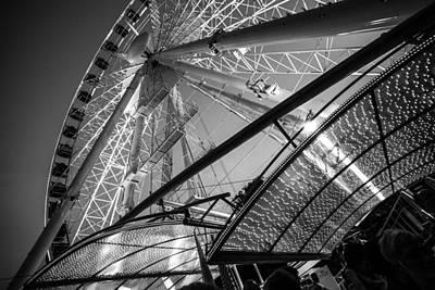 Ferris Wheel Poster by Judith Barath
