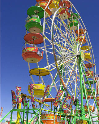 Ferris Wheel Poster by Marcia Socolik