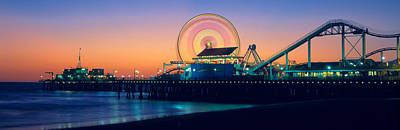 Ferris Wheel On The Pier, Santa Monica Poster by Panoramic Images