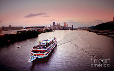 Ferry Boat At The Point In Pittsburgh Pa Poster by Christopher Shellhammer