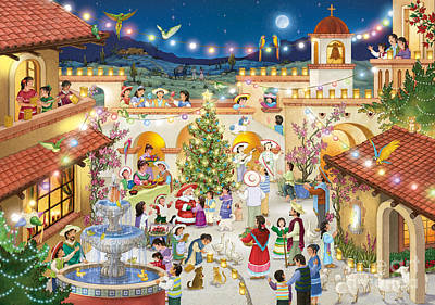 Festival Espanol De Navidad Poster