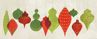 Festive Decorations Ornaments Poster by Danhui Nai