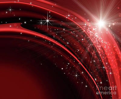 Festive Holiday Background  Poster by Sandra Cunningham