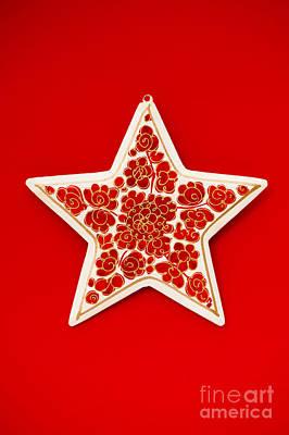 Festive Star Poster by Anne Gilbert