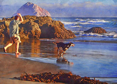 Fetch - Dog And Master - Morro  Poster by Nikolyn McDonald