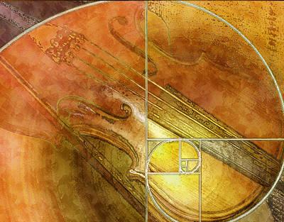 Fibonacci Fiddle Poster by Faye Cummings