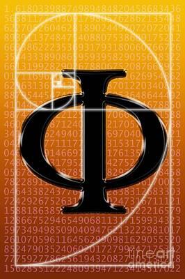 Fibonacci Spiral And Phi, Computer Poster by Seymour