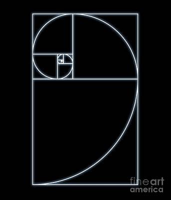 Fibonacci Spiral, Computer Artwork Poster by Seymour