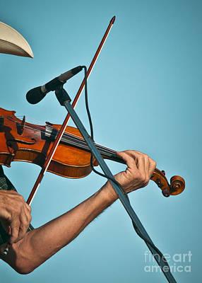 Fiddler On Blue Poster